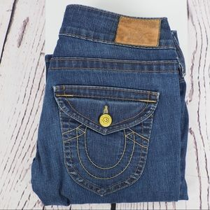 True Religion 28 Billy straight flap pocket jeans